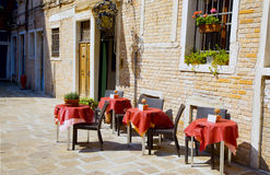 Terrace in the sun Royalty Free Stock Photo