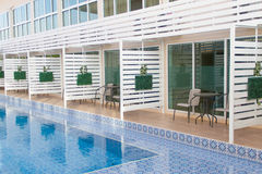 Terrace and Swimming pool Royalty Free Stock Photography