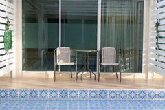 Terrace and Swimming pool Stock Photography