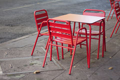 Terrace table. Bar table in the streets Royalty Free Stock Image
