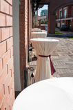 Terrace tables Royalty Free Stock Photo
