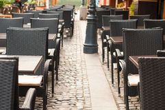 Terrace tables Stock Image