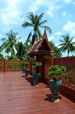 Terrace of thai style house, King Rama II memorial Stock Photos