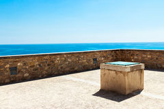 Terrace to the sea. Royalty Free Stock Image