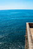 Terrace to the sea. Royalty Free Stock Photos