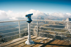 Terrace on top of Lagazuoi. Mountain in Dolomites, Italy Stock Images