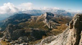 Terrace on top of Lagazuoi. Mountain in Dolomites, Italy Royalty Free Stock Photos