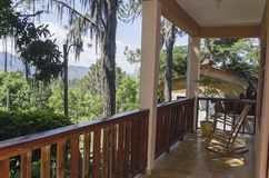 Terrace in the traditional mountains to enjoy the fresh breeze