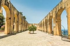 Terrace in Upper Barrakka Gardens. Valletta Royalty Free Stock Images