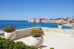 Terrace view on Dubrovnik old town Stock Images