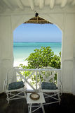 Terrace with view on the Indian Ocean Royalty Free Stock Image