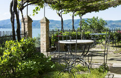 Terrace view. On lake Trasimeno Royalty Free Stock Image