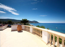 Terrace view of Latsi Bay Cyprus Stock Image