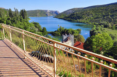 Terrace by viewpoint. Krka, Croatia Stock Images