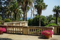 The terrace, Villa Eilenroc Stock Photos