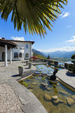 Terrace of a villa, lake view Royalty Free Stock Photos