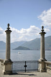Terrace of Villa Melzi on Lake Como Royalty Free Stock Image
