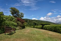 Terrace Walk, Muncaster Castle Royalty Free Stock Photo