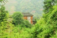 Terraced και αρχιτεκτονική, αρχαία σπίτια στοκ φωτογραφία