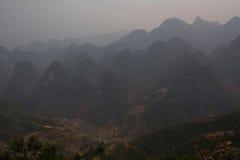 Terraced ορυζώνες ρυζιού στα βουνά εκταρίου Giang, βόρειο Βιετνάμ Στοκ εικόνα με δικαίωμα ελεύθερης χρήσης