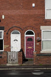 Terraced English houses Manchester, England Royalty Free Stock Photos