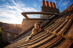Terraced family house Stock Image