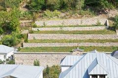 Terraced farmland, Crimea Stock Image