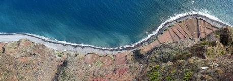 Free Terraced Fields Below Cabo Giraolow  (Madeira) Royalty Free Stock Photos - 34900228