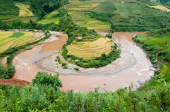 Terraced fields, Yen Bai province, Vietnam Stock Photos