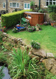 Terraced garden shed Stock Photo