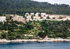 Terraced Gardens Below Coastal Homes Royalty Free Stock Image