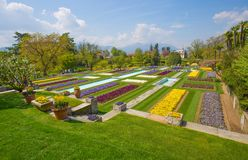 Terraced gardens in the botanical garden of Villa Taranto in Pallanza, Verbania, Italy. Stock Photography
