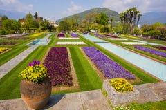 Terraced gardens in the botanical garden of Villa Taranto in Pallanza, Verbania, Italy. Royalty Free Stock Photography