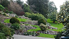 Terraced gardens near Richmond Hill Greater London Royalty Free Stock Images