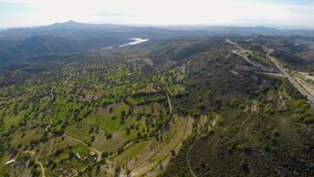 Terraced green landscape with olive tree fields in Troodos mountains in Cyprus. Stock footage stock video
