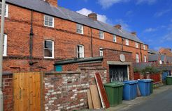 Terraced house in England stock image