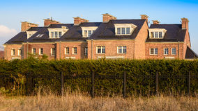 Terraced house in the English Victorian style Royalty Free Stock Photo