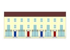 Terraced house illustration Royalty Free Stock Photo
