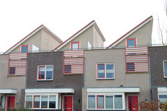 Terraced houses Stock Images