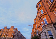 Terraced Houses in Edinburgh Royalty Free Stock Photography