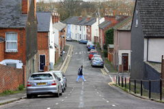 Terraced Houses in England Royalty Free Stock Photography