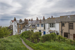 Terraced houses on english rural coastline Royalty Free Stock Photography