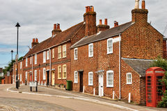 Terraced houses in Hamble-le-Rlce Stock Photo