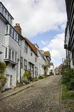 Terraced Houses On Hill in Rye Stock Photo