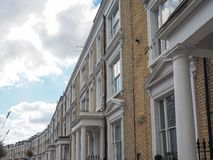Terraced Houses in London Stock Image