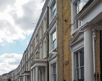 Terraced Houses in London Stock Photography