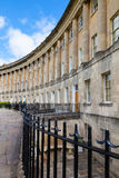 Terraced houses on the Royal Crescent in Bath Royalty Free Stock Images