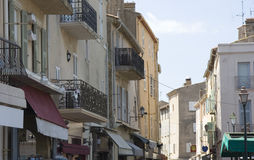 Terraced houses in saint-tropez Stock Image