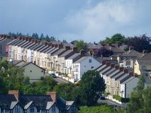 Terraced Housing. 1. Terraced Housing in Londonderry, Northern Ireland Stock Photography