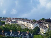 Terraced Housing. 2. Terraced Housing in Londonderry, Northern Ireland Stock Photography